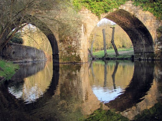 river through double arches
